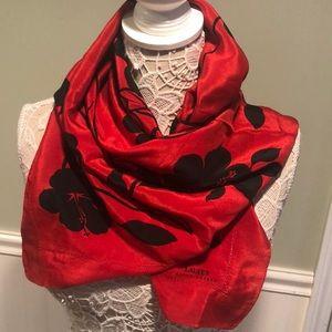 RARE Vintage Ralph Lauren Silk Hibiscus Scarf Wrap